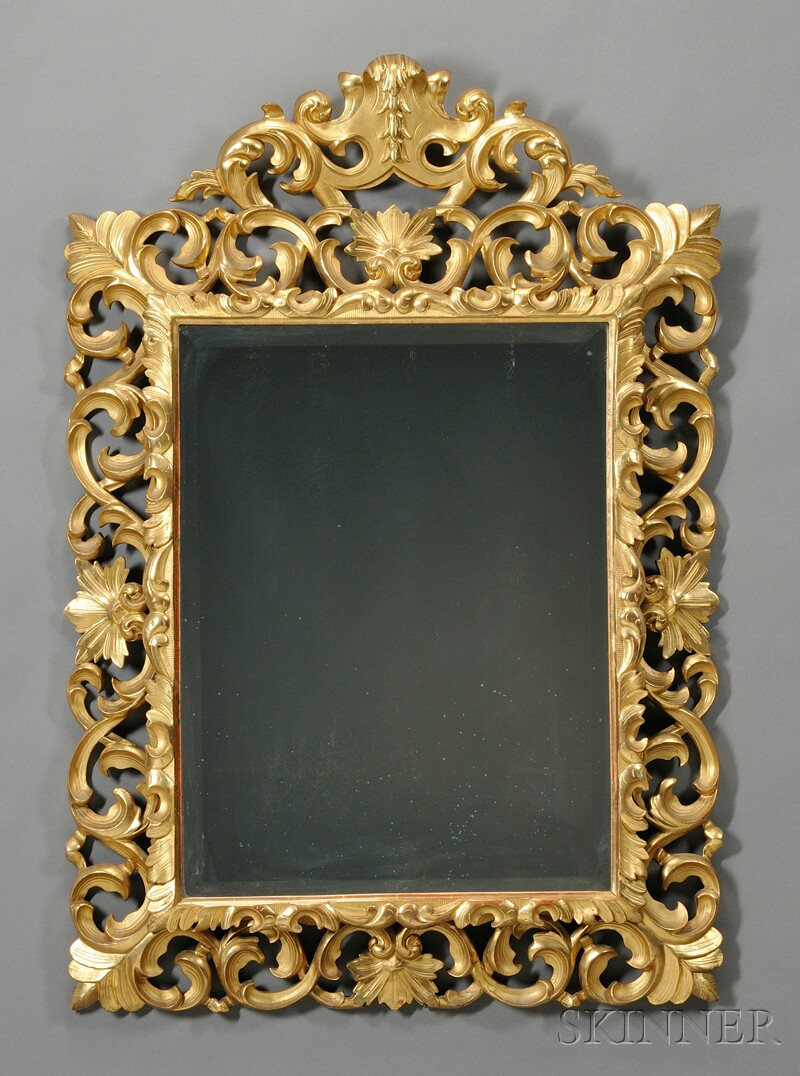 Rococo Carved Giltwood Mirror