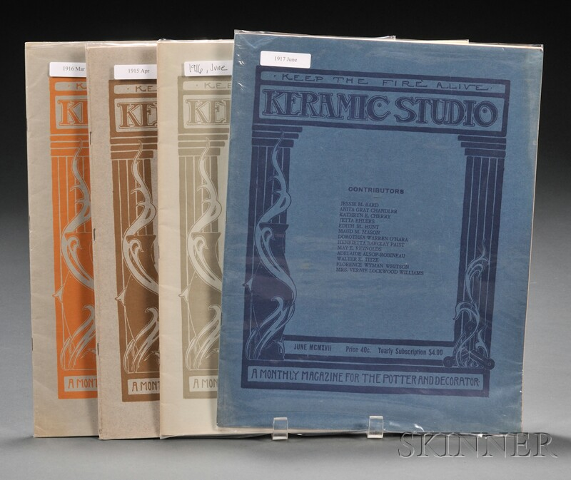 Approximately 100 Keramic Studio Magazines