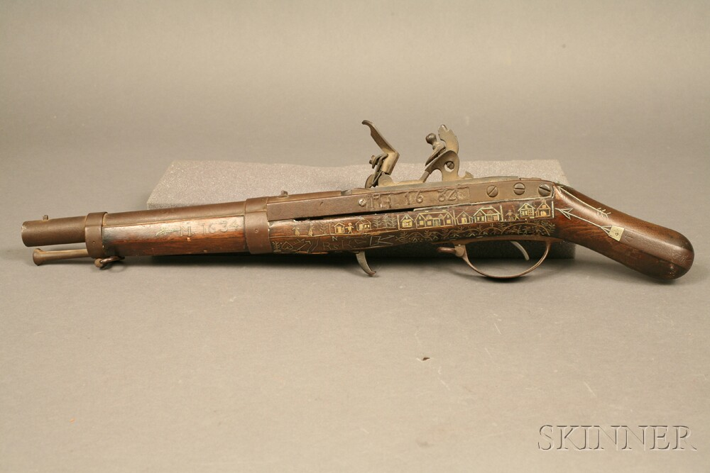 Model 1819 Hall Rifle Cut Down to a Pistol
