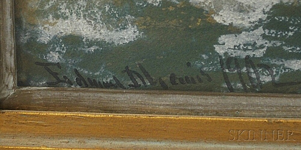 Edmund Darch Lewis (American, 1835-1910)      Seascape.