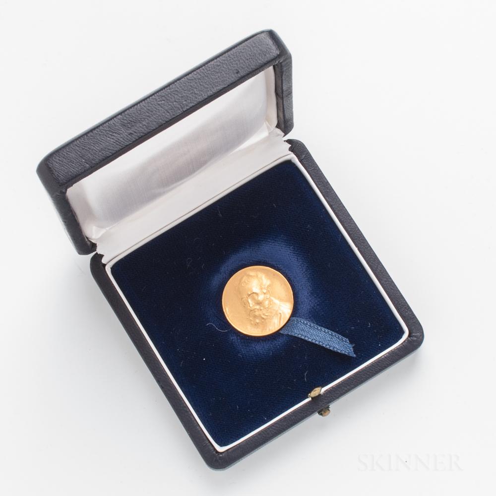 1969 Banca D'Italia 125th Anniversary 22kt Gold Medal