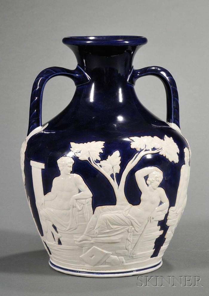 Wedgwood Blue Glazed Portland Vase
