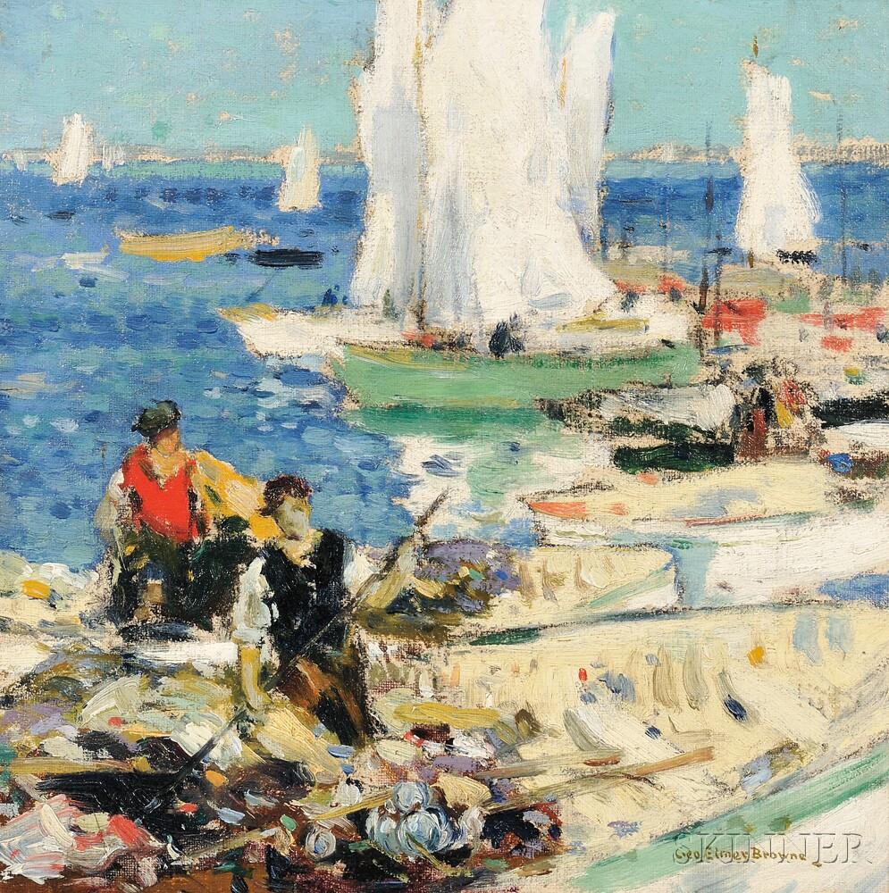 George Elmer Browne (American, 1871-1946)      Boaters