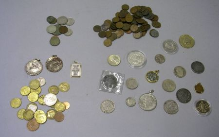 Group of Assorted U.S. and World Coins and Tokens