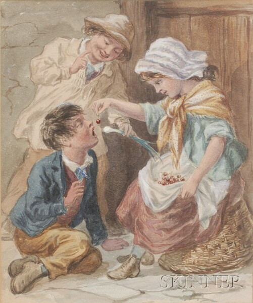 Attributed to William Hemsley (British, 1819-1893)      Will You Have a Cherry?
