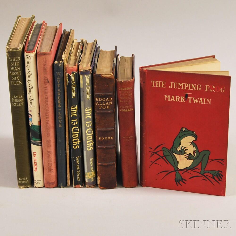 Children's Books and Poetry, Ten Volumes: