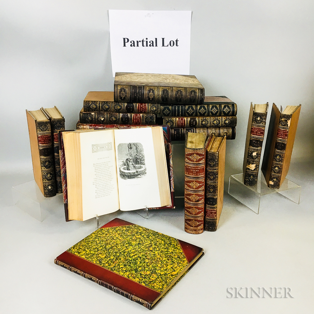 Extensive Group of Decorative Leather Bindings