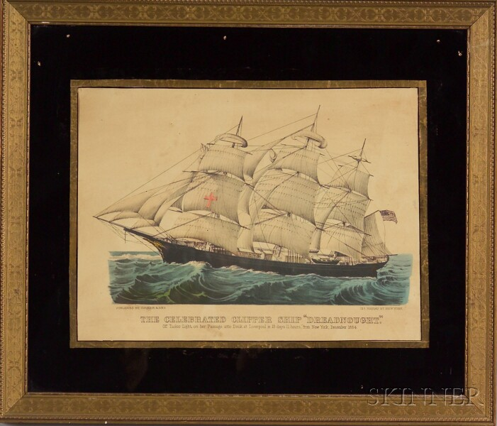 "Currier & Ives, publishers (American, 1857-1907)      The Celebrated Clipper Ship ""Dreadnought.,"""