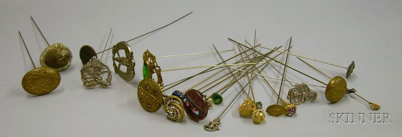 Approximately Twenty-Five Late 19th Century/Early 20th Century Hat Pins.