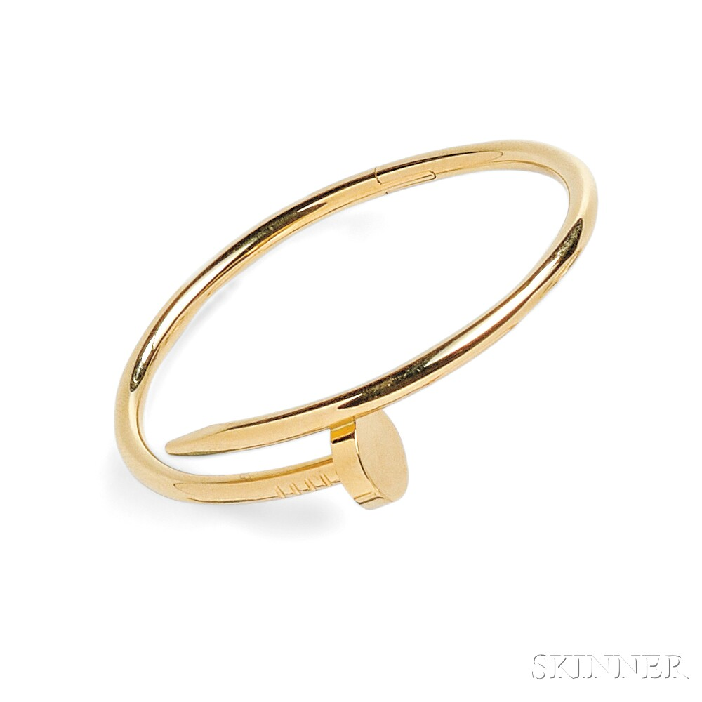 """18kt Gold """"Juste Un Clou"""" Bracelet, Cartier"""