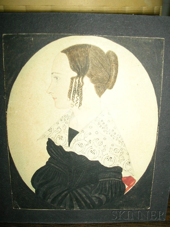 Portrait Miniature of a Woman