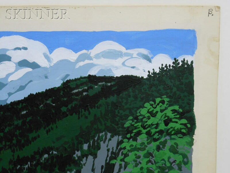 Neil Welliver (American, 1929-2005)      Maiden's Cliff   /A Study