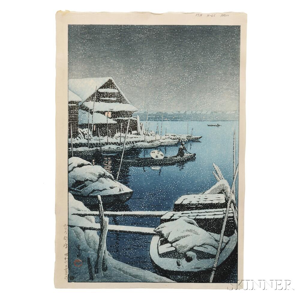 Kawase Hasui (1883-1957), Snow at Mukojima