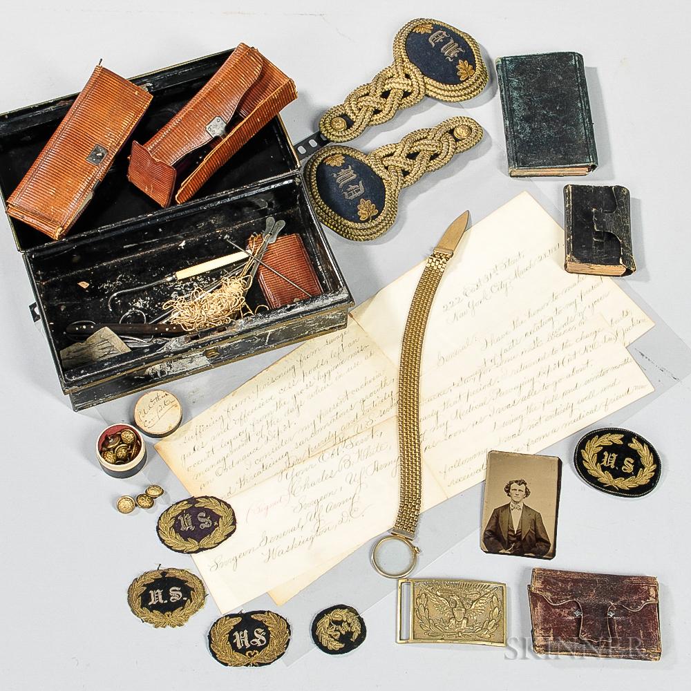 Civil War-era Surgical Kit, Diaries, and Cap Badges from Surgeon Charles B. White