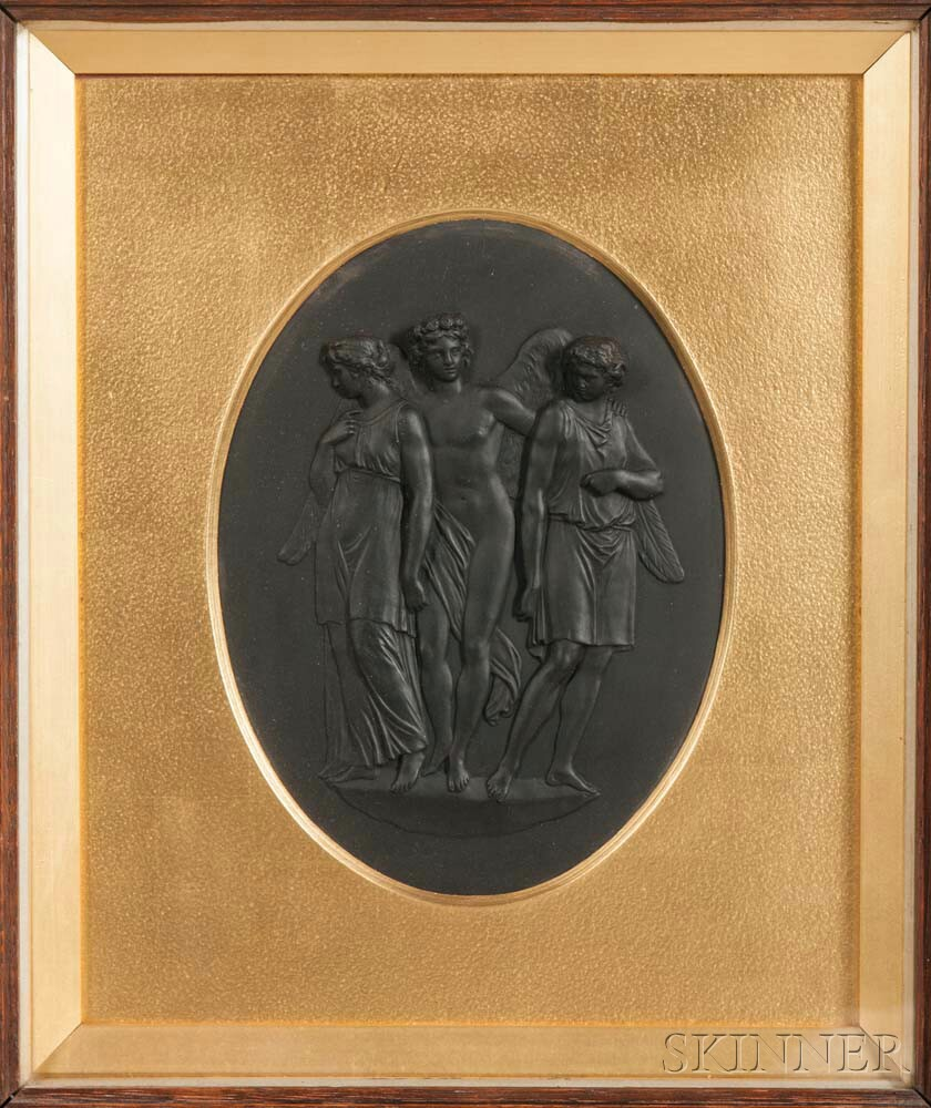 Wedgwood Black Basalt Plaque