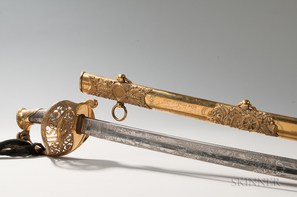 Captain James Sewall Reed's Presentation Revolver, Holster, and Sword