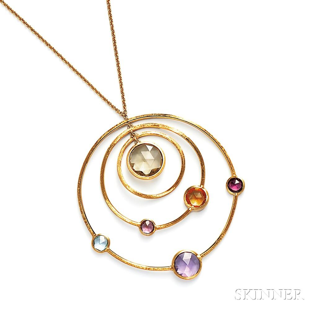 """18kt Gold Gem-set """"Jaipur"""" Pendant, Marco Bicego"""