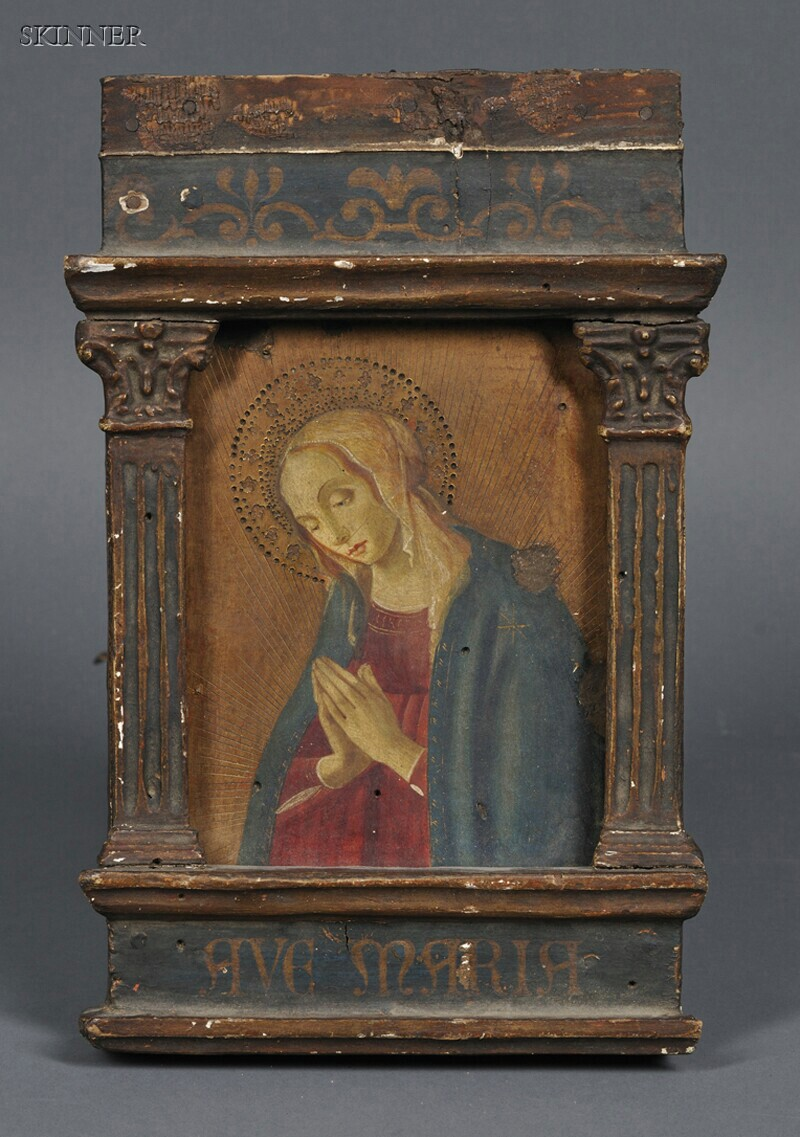 Italian School, 19th Century      Madonna in Prayer, After Florentine School, 15th Century