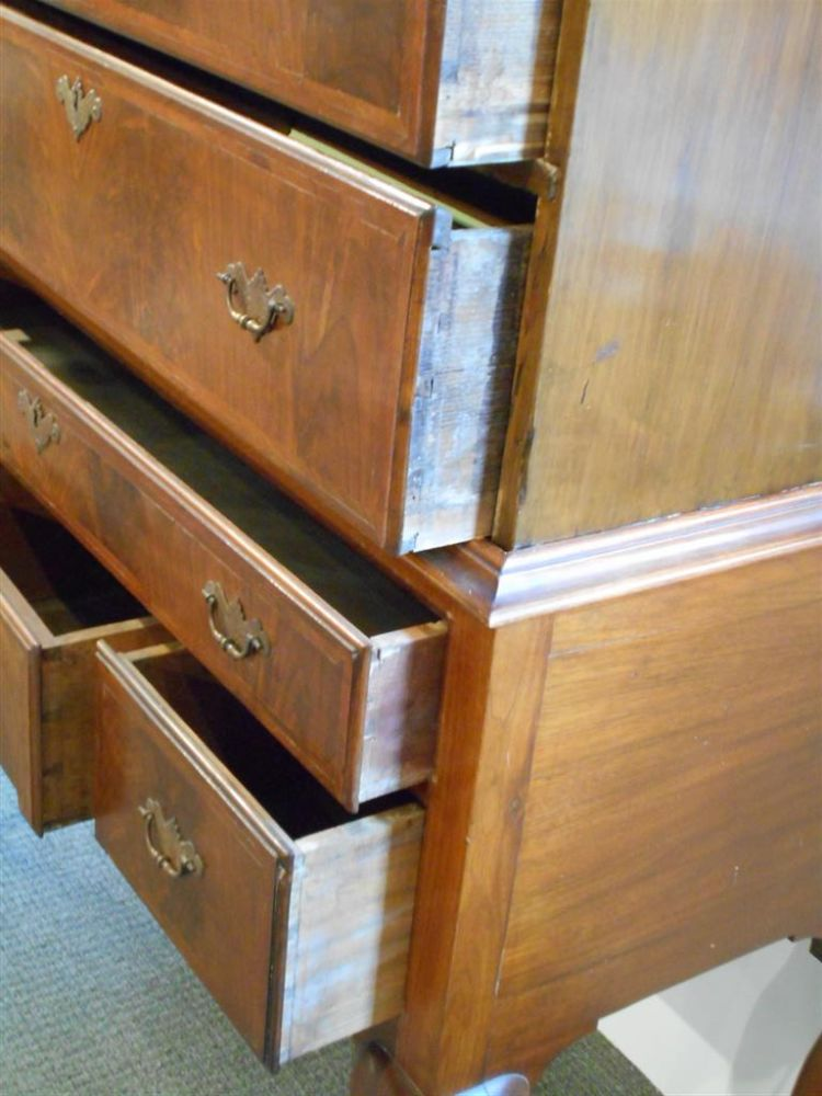 Queen Anne-style Mahogany Flat-top Highboy