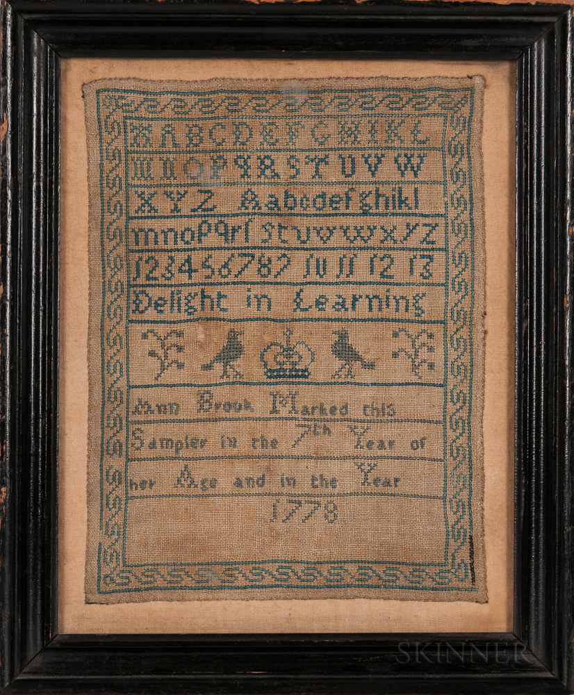 """Ann Brook"" Needlework Sampler"
