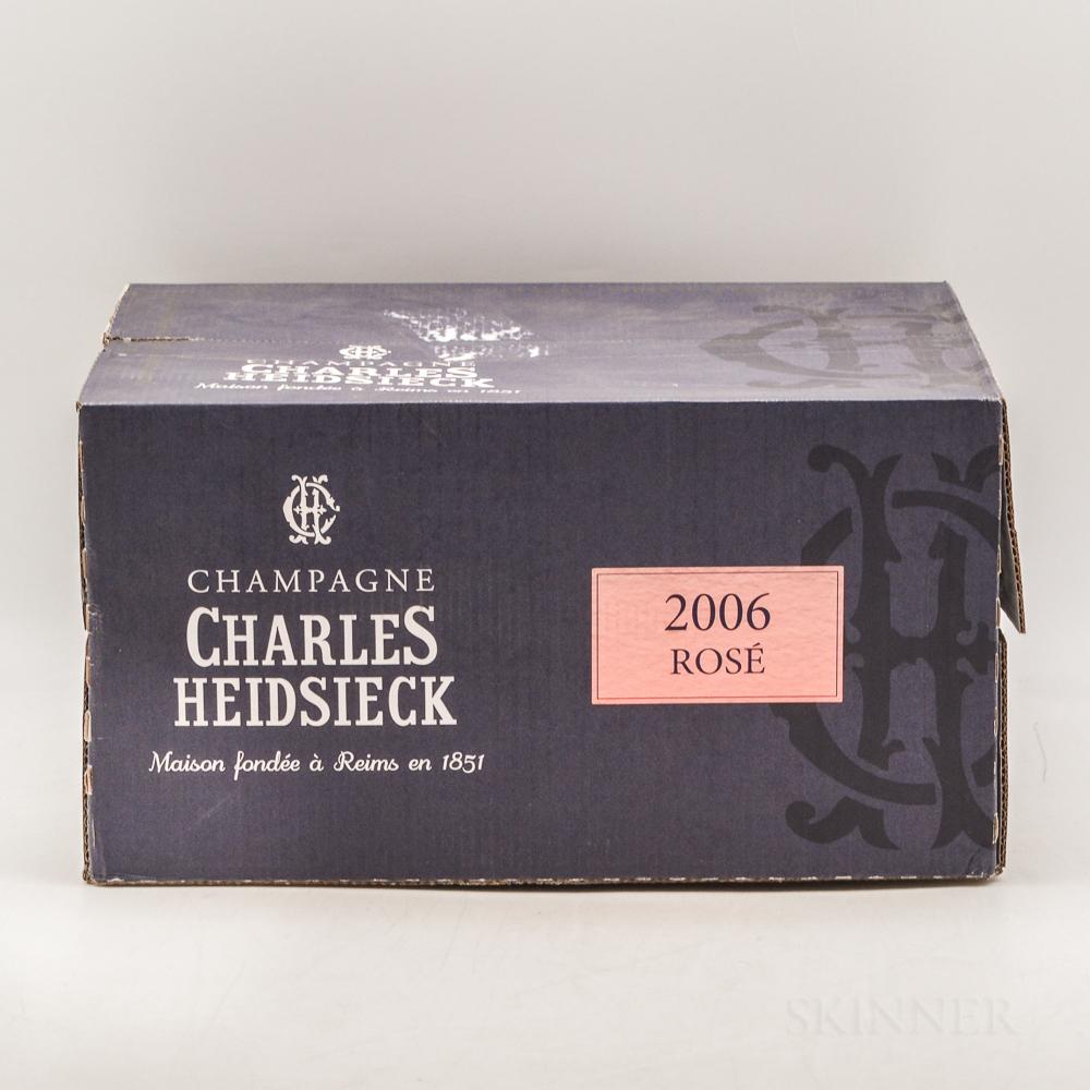 Heidsieck Rose 2006, 6 bottles (oc)