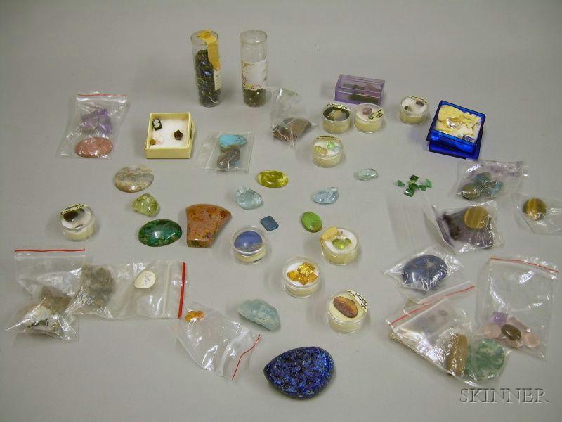 Assorted Loose Gemstones, Hardstones, and Minerals.