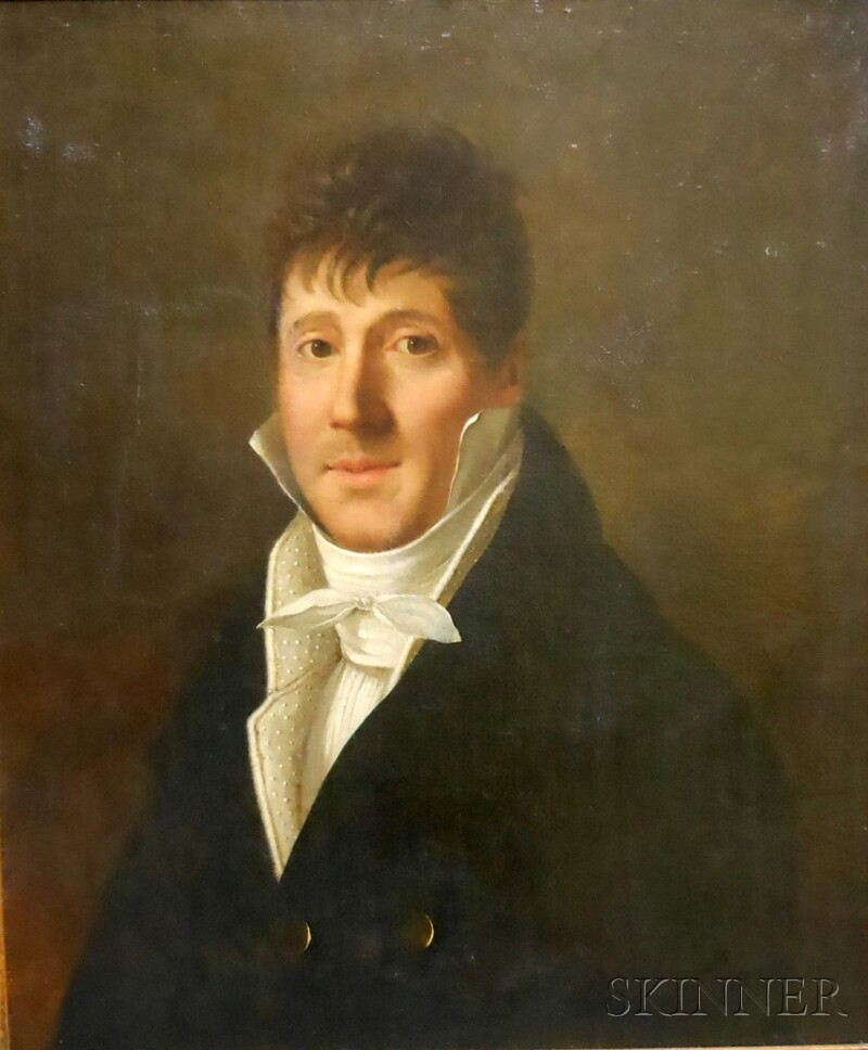 Attributed to Gustav de Galard (French, 1777-1840)      Portrait of a Gentleman in Early 19th Century Attire