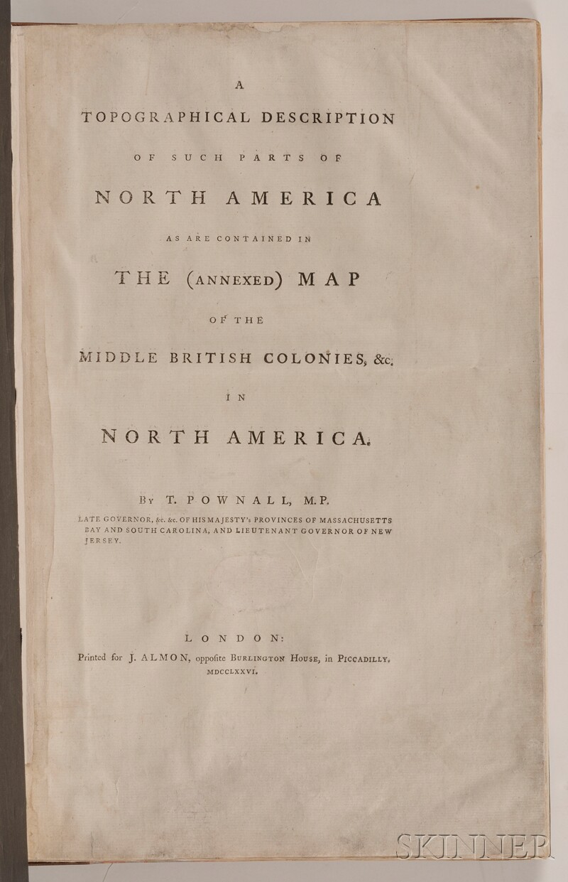 (Maps and Charts, North America), Pownall, Thomas (1722-1805)