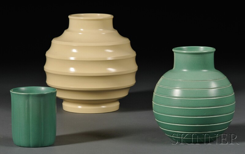 Three Wedgwood Keith Murray Design Vases