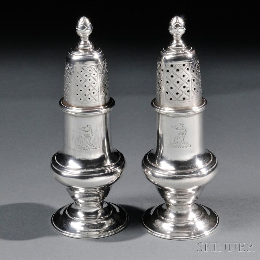 Pair Of Paul Revere Jr Silver Casters Sale Number