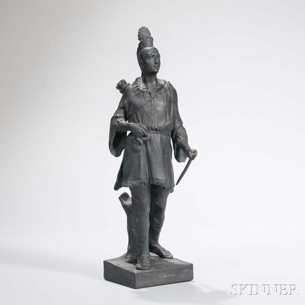 Wedgwood Black Basalt Figure of Hiawatha