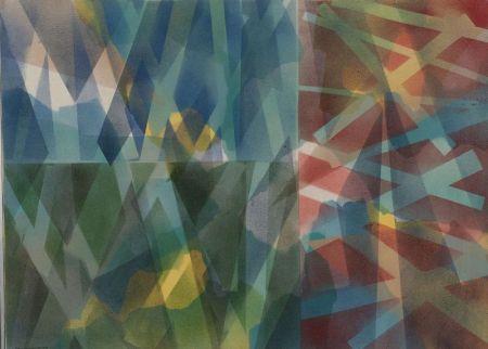 Louis Lorenzen (American, 20th Century)  To Quixote and Kupka, A Landscape