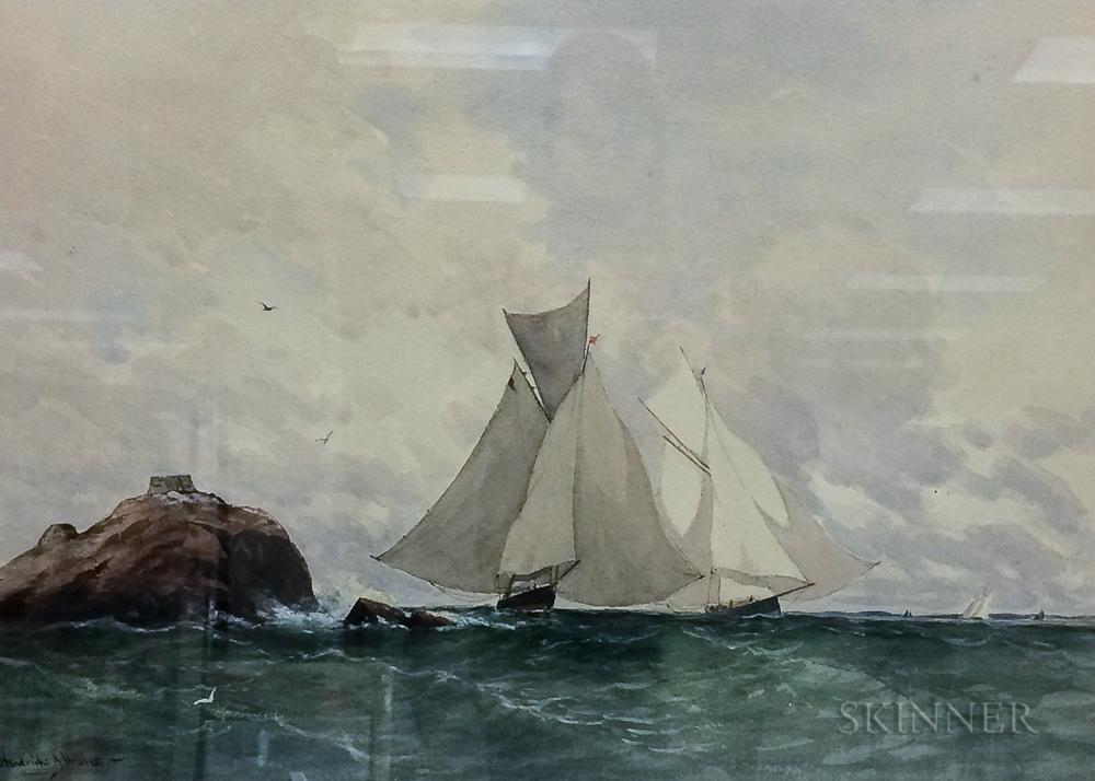 Hendricks A. Hallett (American, 1847-1921)      Schooners at Rocky Point