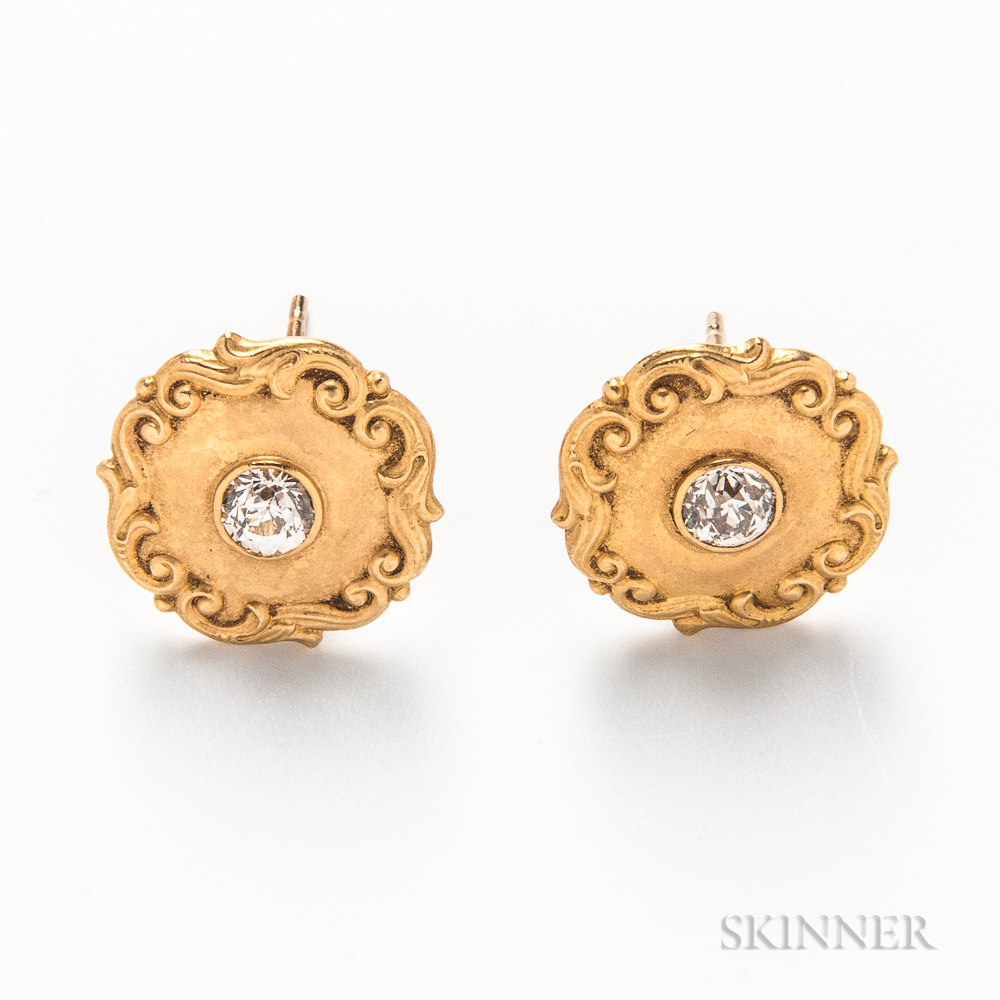 Tiffany & Co. 18kt Gold and Diamond Earrings