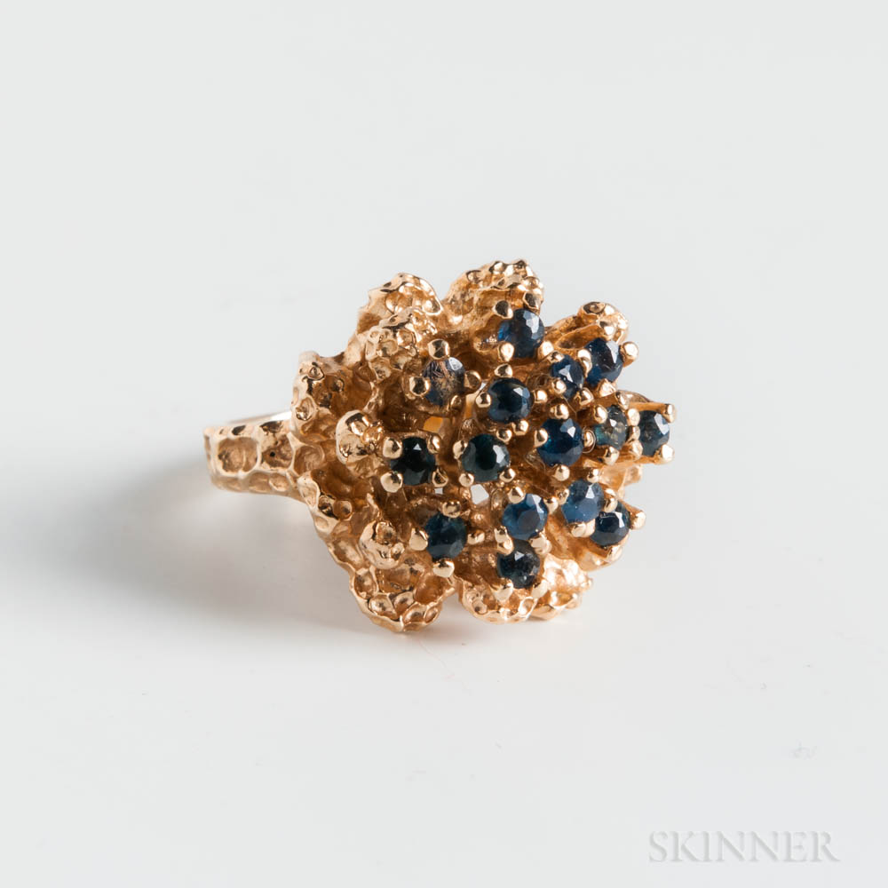 14kt Gold and Sapphire Ring