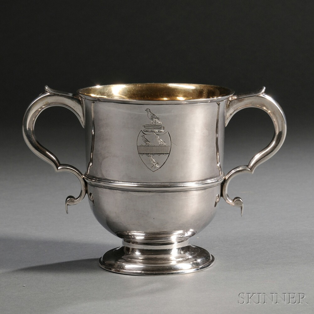 Georgian Channel Islands Silver Porringer or Loving Cup