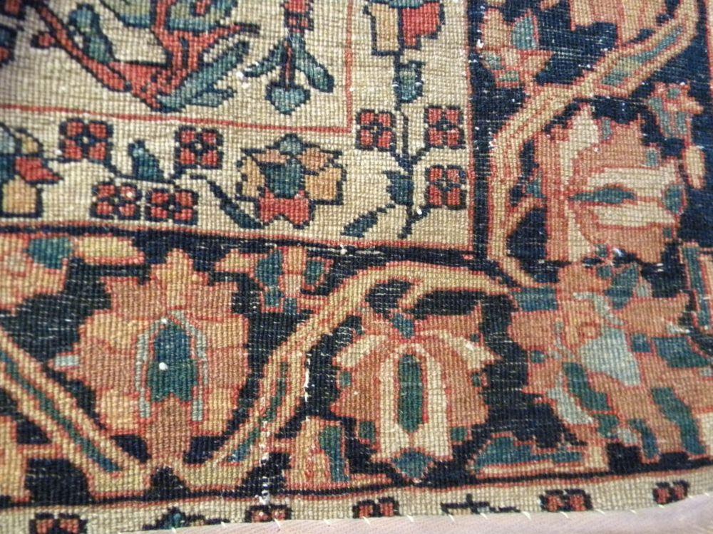Antique Fereghan Sarouk Prayer Rug