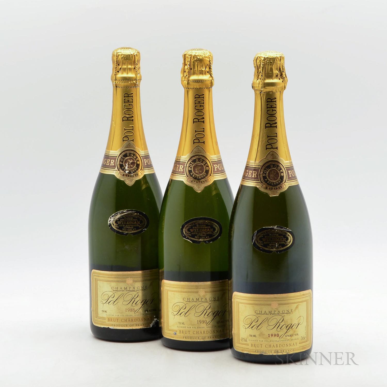 Pol Roger Brut Chardonnay, 3 bottles