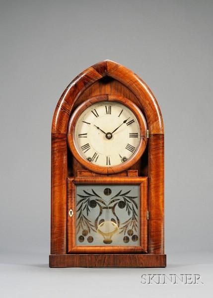 Mahogany Beehive Clock by Brewster and Ingrahams