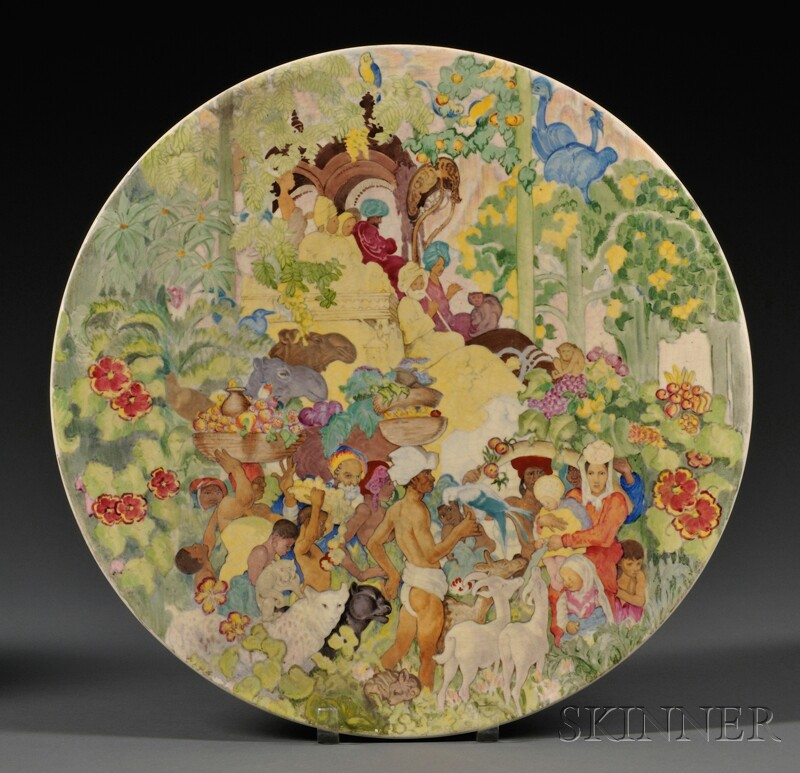 Clarice Cliff Brangwyn Panels Commemorative Charger