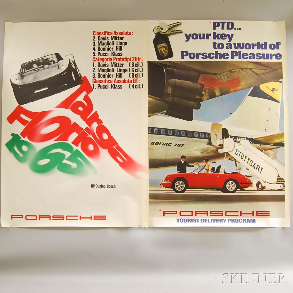 Two Unframed 1960s Car and Racing Posters
