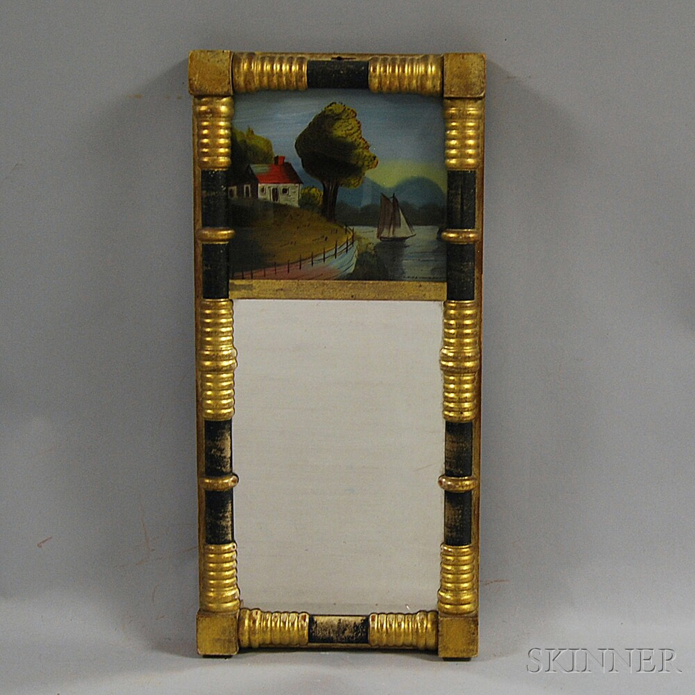 Federal Gilt-gesso Split-baluster Mirror