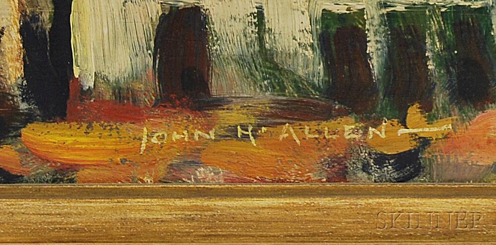 John Howard Allen (American, 1866-1953)      Southwest Landscape.