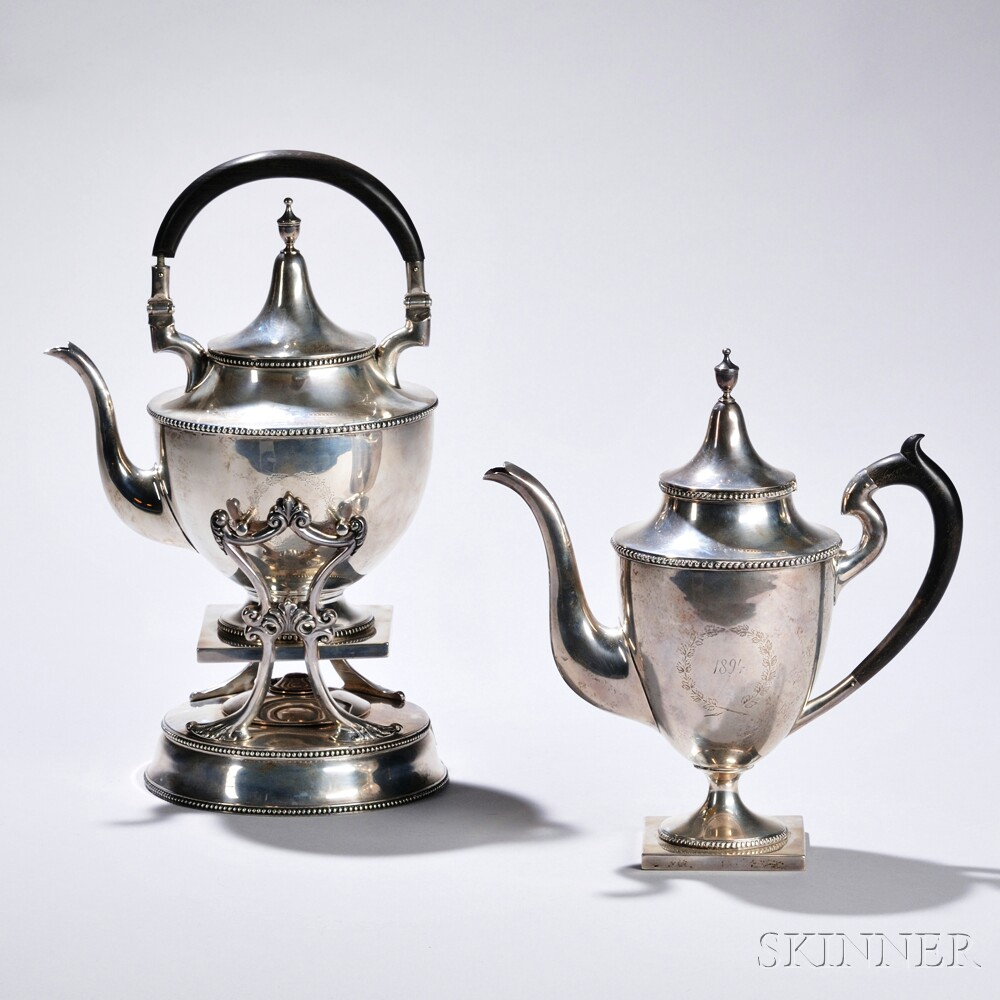 Goodnow & Jenks Sterling Silver Kettle-on-stand and Coffeepot