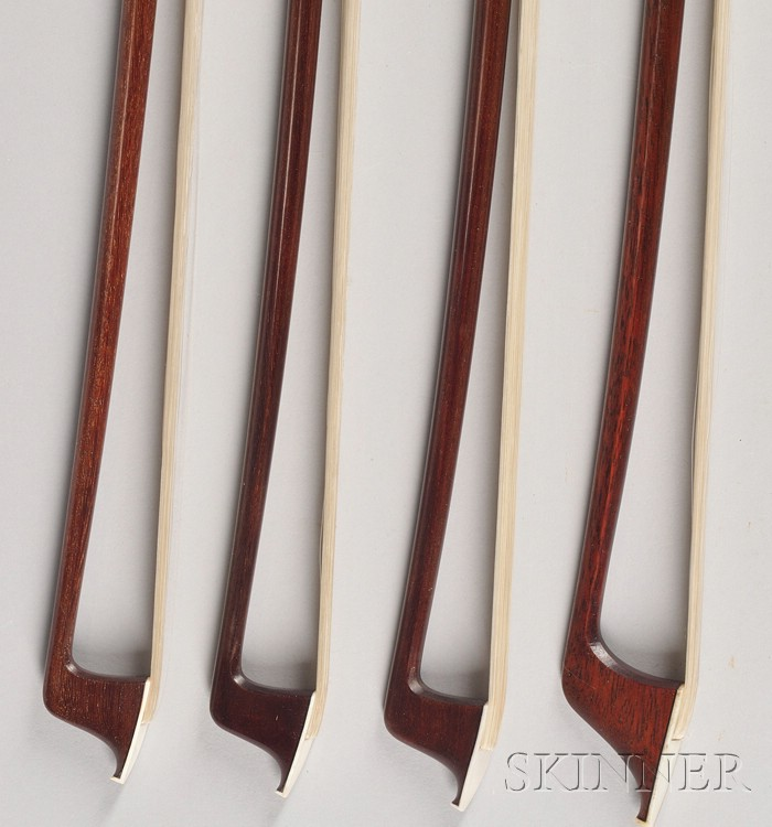 A Quartet of Gold Mounted Bows