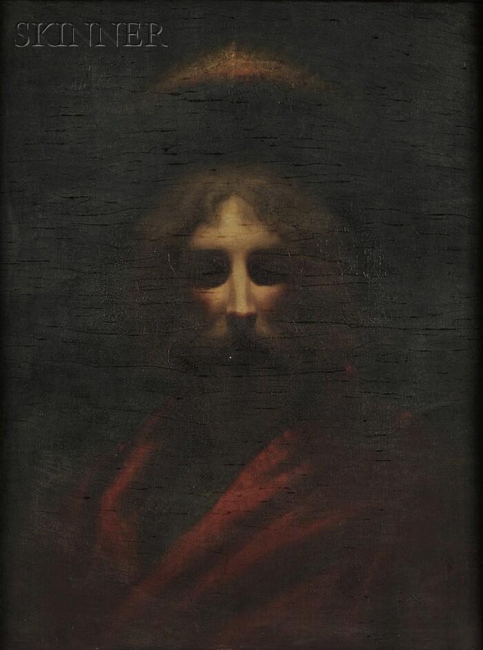 Thomas Nast (American, 1840-1902)      Head of Christ
