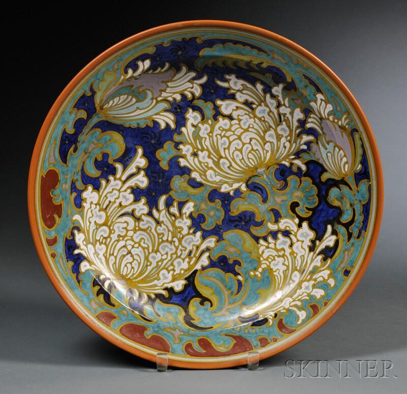 Zuid Holland Gouda Pottery Matte Glaze Charger