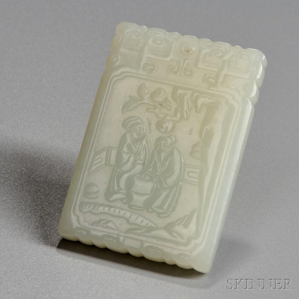 Pale Celadon Hardstone Plaque