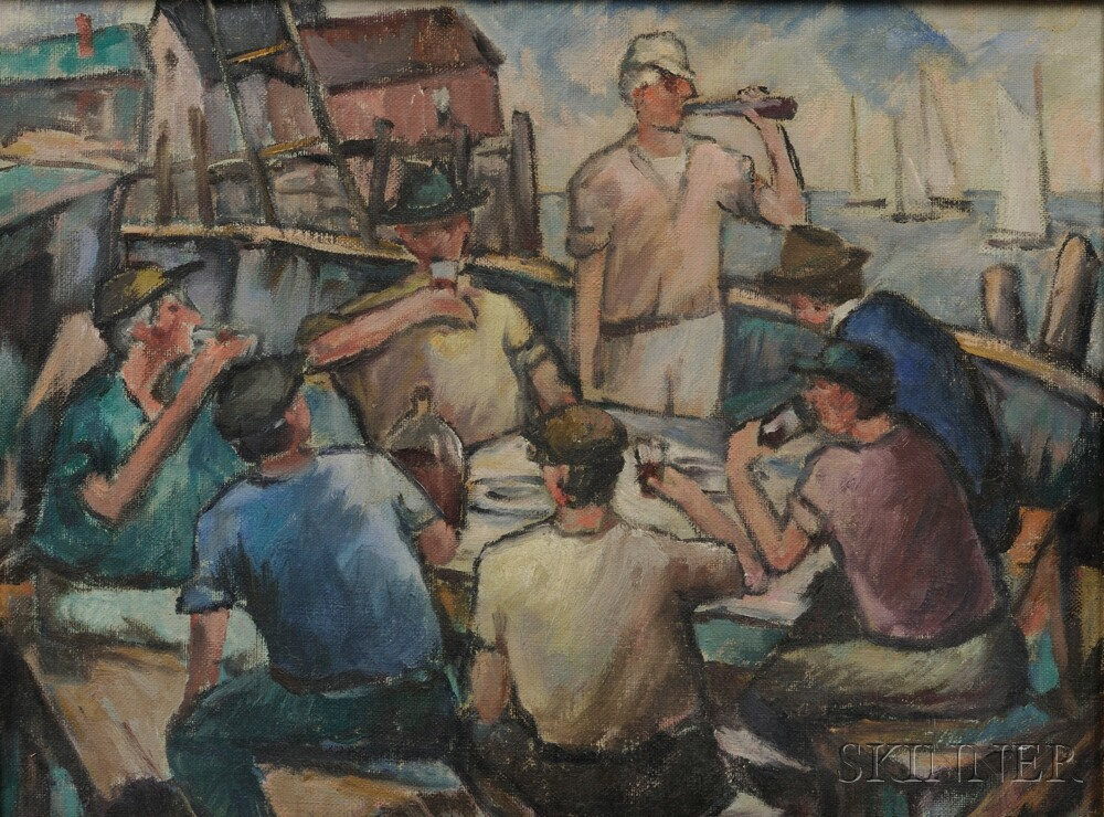 Bernard I. Green (American, 1887-1951)      Dock Workers.