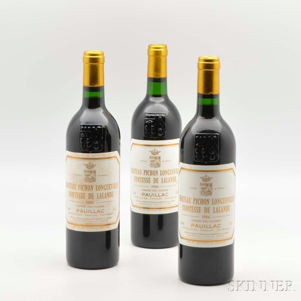 Chateau Pichon Lalande 1986, 11 bottles